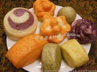 ♥憶柔蔬食♥純天然彩色饅頭~素食