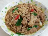 沙茶金針菇肉片