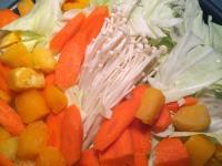 和風味噌南瓜蔬菜疊煮鍋 ♪ ♪