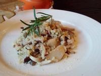 義大利野菇燉飯+迷迭香奶油烤野菇