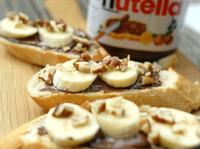 巧克力香蕉吐司-Nutella好滋味早餐