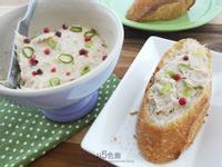 青蔥鮪魚乳酪芥茉抹醬