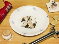 奶油黑線鱈佐綠扁豆