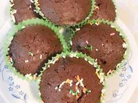 黑巧克力南瓜子布朗尼杯子蛋糕