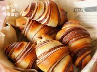 巧克力大理石牛角麵包
