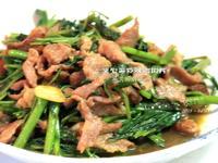 瑪莉廚房:空心菜炒味噌肉片