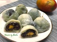 抹茶紅豆芒果大福 - Mochi
