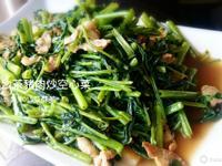 豬肉沙茶炒空心菜
