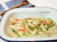 輕鬆版夏日蘆筍鮮蝦燉飯