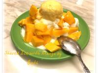 芒果牛奶雪花冰