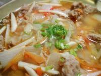 不加粉芡的   蘿蔔筍絲肉羹湯