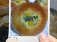 優格香蒜玉米餐包~甜麵包