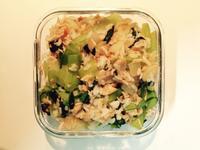 [減肥便當]無油鮭魚菇菇炒飯