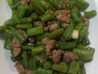 醬香肉末炒長豆