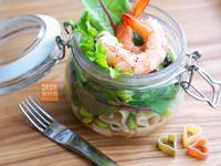 Mimi♥鮮蝦義大利麵●玻璃罐沙拉