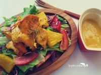 香料雞胸沙拉&香芒鳳梨優格醬