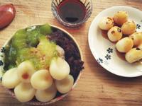 白玉糰子×抹茶紅豆冰