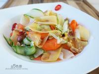 越式涼拌青木瓜緞帶沙拉