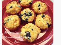 藍莓奶酥杯子蛋糕