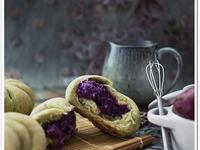 抹茶紫薯包