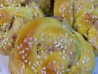 南瓜芋泥麵包~湯種法
