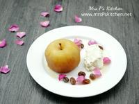玫瑰紅茶燉蘋果 【健康甜點】