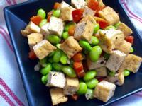豆腐炒豆豆(下酒菜)