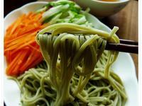 簡單美味::日式抹茶涼麵