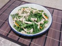 四季豆清炒白玉菇