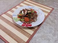 鮮香菇炒肉絲