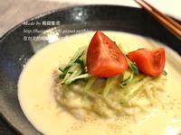 韓國夏天的代表菜豆漿冷麵,콩국수