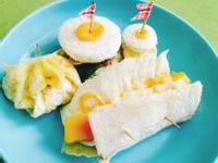 夏日輕食早午餐🍞迷你三明治。芒果捲
