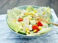 日式凍豆腐沙拉【自調芝麻醬食譜】