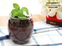 巧克力盆栽蒸布丁