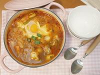 韓式牡蠣豆腐鍋~吃進熱騰騰的一股暖流 ♪