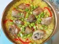 番紅花雞肉燉飯。瓦倫西亞燉飯