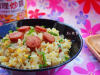 德式香腸咖哩蛋炒飯『牛頭牌咖哩新食代』