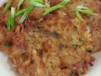 小魚乾煎飯餅~清剩飯、補鈣