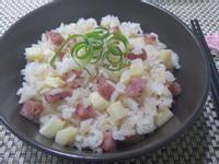 筊白筍香腸炊飯(電子鍋料理)