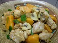一鍋到底~蘑菇地瓜燒雞~免油