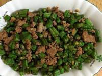 長豆炒肉末(好吃的便當料理)