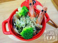 《費妮洛小姐的幸福廚房》青醬海鮮菇菇燉飯