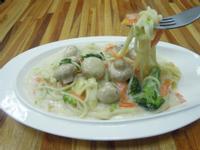 素食白醬磨菇義大利麵