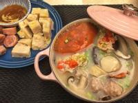 紅蟳干貝粥