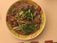 小白菜燒麵筋