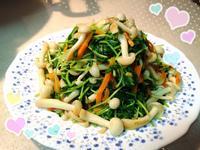 豆苗炒鮮菇