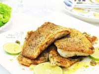 香煎馬頭魚排佐酸豆奶油檸檬醬