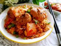 韓式泡菜嫩雞炒飯