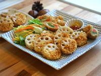 秋味炸蓮藕+四季豆肉捲