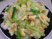 油蔥酥高麗菜炒蛋